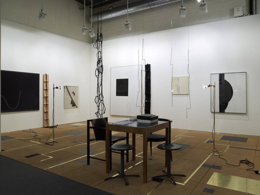 Installation View: Leonor Antunes and Carol Rama, Isabella Bortolozzi Galerie at Art Basel, 15.06.10—20.06.10.