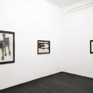 Installation view: Carol Rama, »Autorattristatrice«, Isabella Bortolozzi Galerie, 01.05.09—20.06.09.