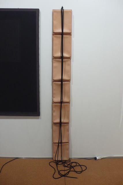 Leonor Antunes, »Via Napione #1«, 2010. Rope leather, 1.8 x 0.25 x 0.04 cm.