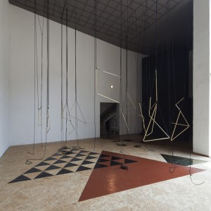 Installation view: Leonor Antunes, »Discrepancies with M.G.«,  El Eco Museum, Mexico City,  05.09.11—27.11.11.