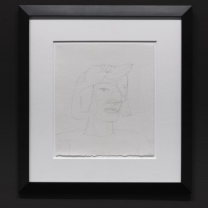Jim Nutt, Untitled, 2000. Graphite on paper, framed: 63.5 x 58 x 25 cm.