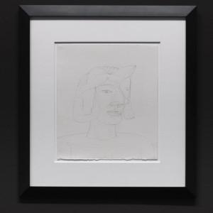 Jim Nutt, »Untitled«, 2000. Graphite on paper, framed: 63.5 x 58 x 25 cm.