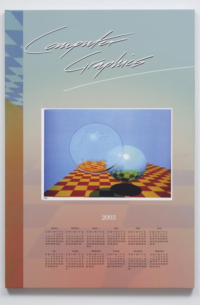 Seth Price. »Comp. Graphics.« 2003. Inkjet on canvas. Unique.