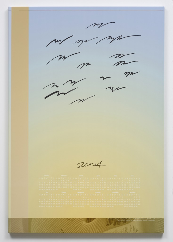 Seth Price. »Birds No.« 2004. Inkjet on canvas. Unique.