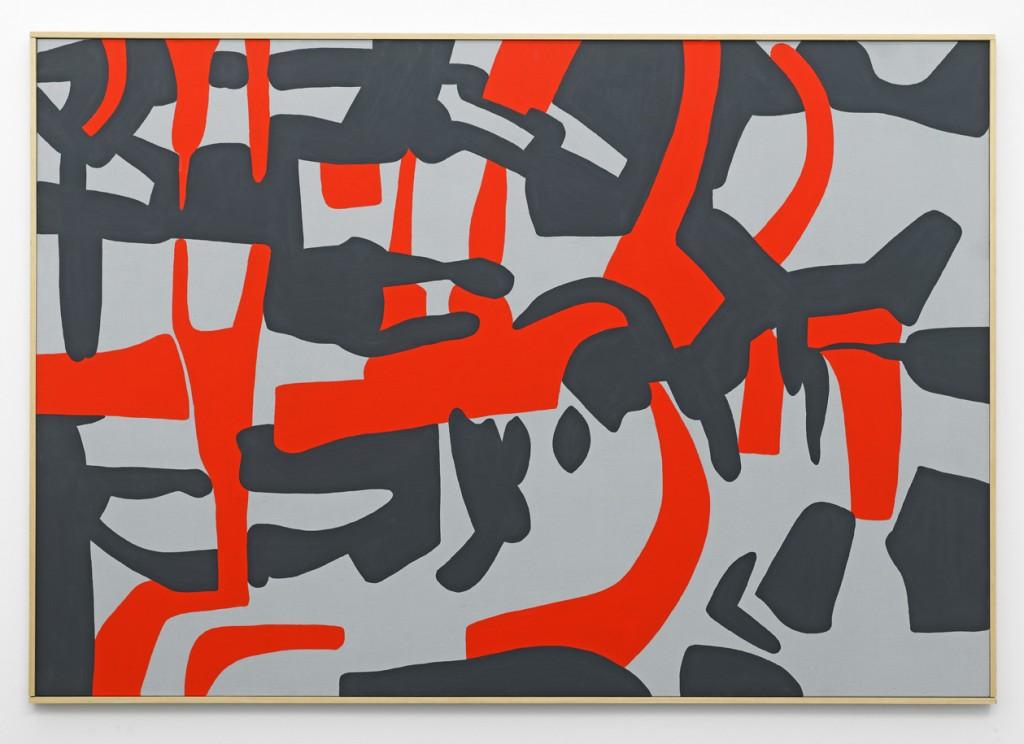 Carla Accardi, »Verosimile assonanza«, 2011. Gouache on canvas, 112 x 162 x 3 cm. Unique