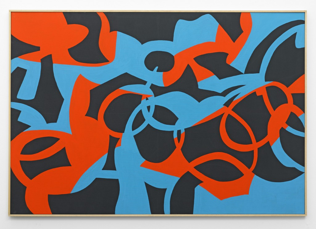 Carla Accardi, »Sisuiarrivano nei dubbi«, 2011. Gouache on canvas, 112 x 162 x 3 cm. Unique.