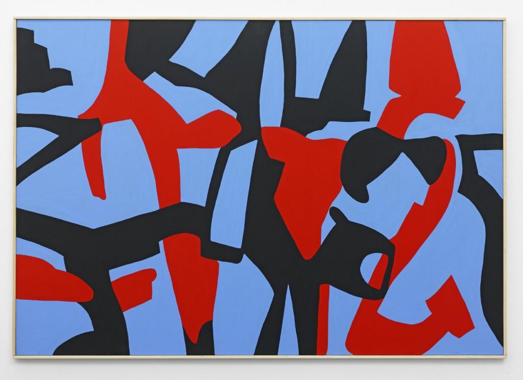 Carla Accardi, »Inversamente al senso«, 2011. Gouache on canvas, 112 x 162 x 3 cm. Unique.