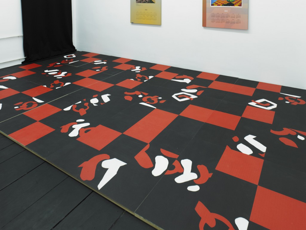 Carla Accardi, »Pavimento in feltro«, 2010, painted felt on wood, dimensions variable. Unique.