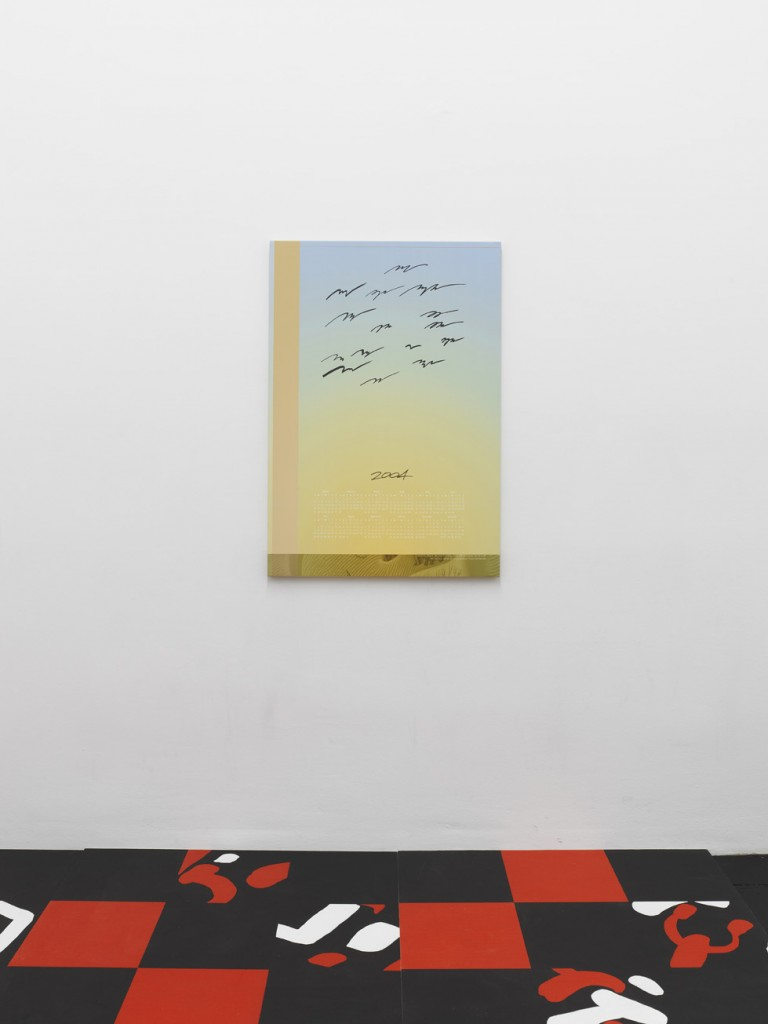 Seth Price, »Birds no«, 2004, inkjet on canvas, 106,5 x 73,5 x 2,5 cm. Unique.