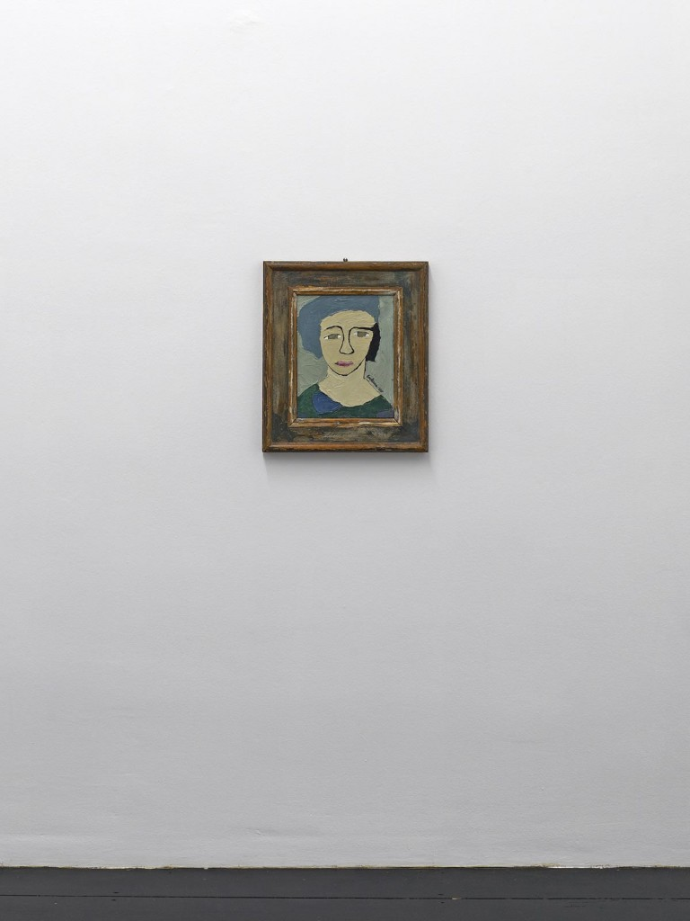 »Autoritratto«, 1937. Oil on canvas board. 35 x 28 cm. Framed: 53,7 x 64,3 x 4 cm. Unique.