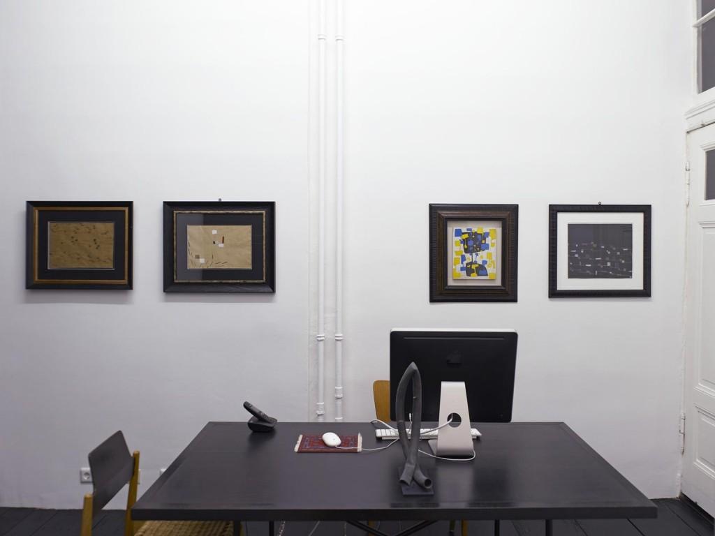 Installation view: »Spazio Anche Piu Che Tempo«, A selection of works by Carol Rama from the 1930s to the 1980s, Isabella Bortolozzi Galerie, Berlin, 12.09.12—13.10.12