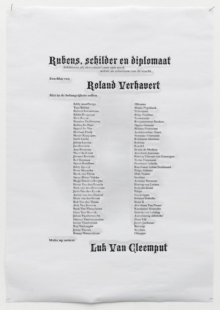 Jos de Gruyter. Poster. A1. Courtesy the artist, Isabella Bortolozzi Galerie, Berlin, Etablissement d'en Face, Brussels.