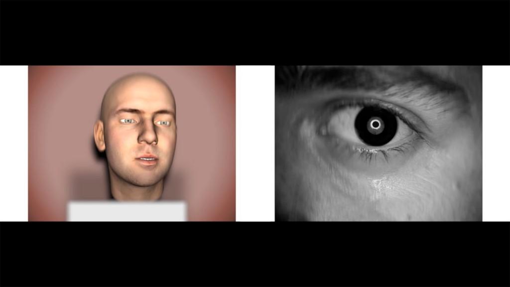 Ed Atkins, »Us Dead Talk Love«, 2012. Two channel HD video (4:3 in 16:9) mit 5.1 surround sound. Duration 37min 24sec.