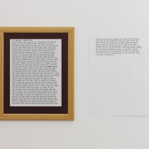 Juliette Blightman. »I am an object who knows himself to be seen«. 2013. Ink on paper.