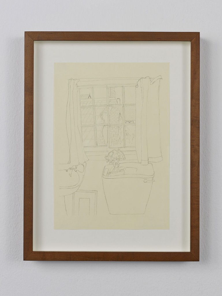 Juliette Blightman. »Jim Ede, Cambridge«. 2013. Graphite on paper, framed. Unique.