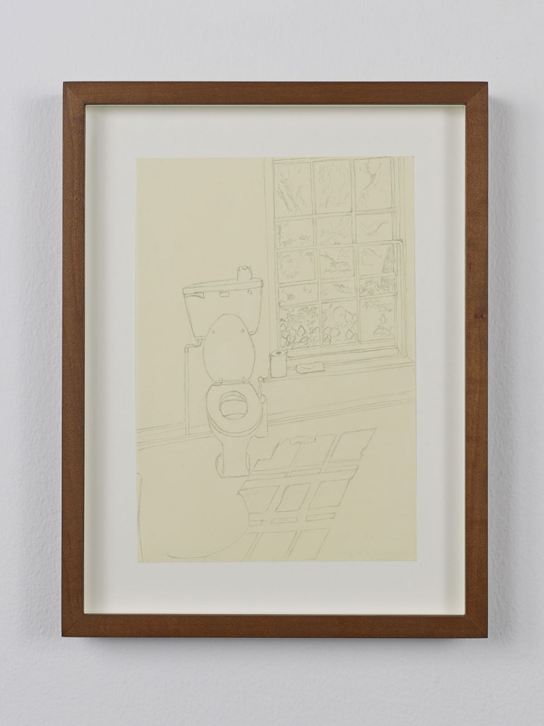 Juliette Blightman. »Cerith Wyn Evans, Norfolk«. 2013. Graphite on paper, framed. Unique.