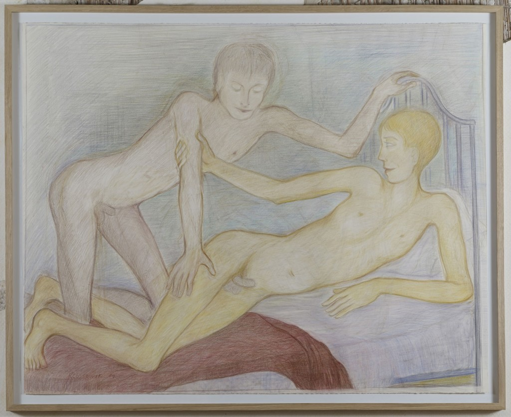 Pierre Klossowski.<i> Auberge de la comète II.</i> 1984. Coloured pencil on paper. 108 x 136 cm. Unique.