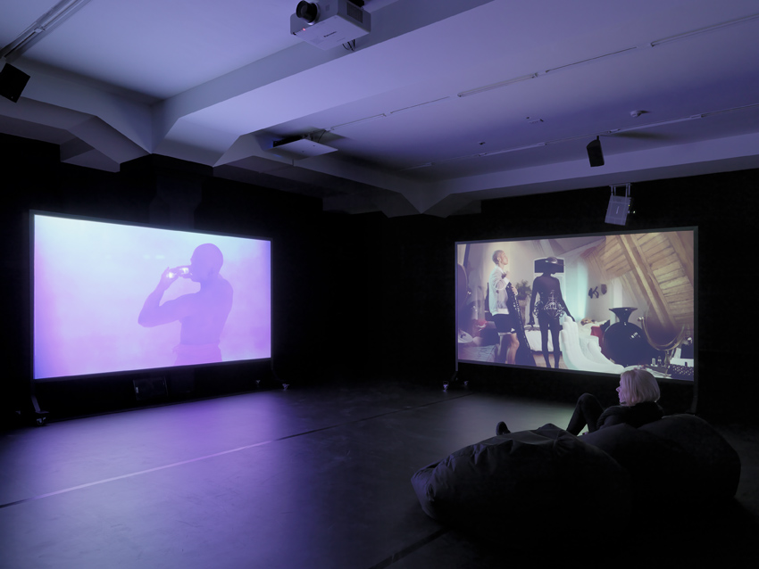 Installation view: Wu Tsang, »Not in my Language«, Migros Museum, Zurich, 22.12.14-08.02.15