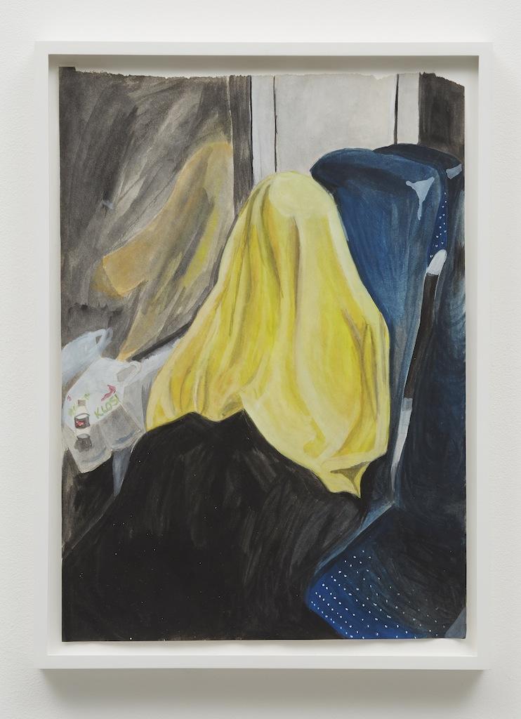 »Bregenz to Seltisberg«, 2014, Gouache on paper,<br/>Framed: 33 x 45 cm
