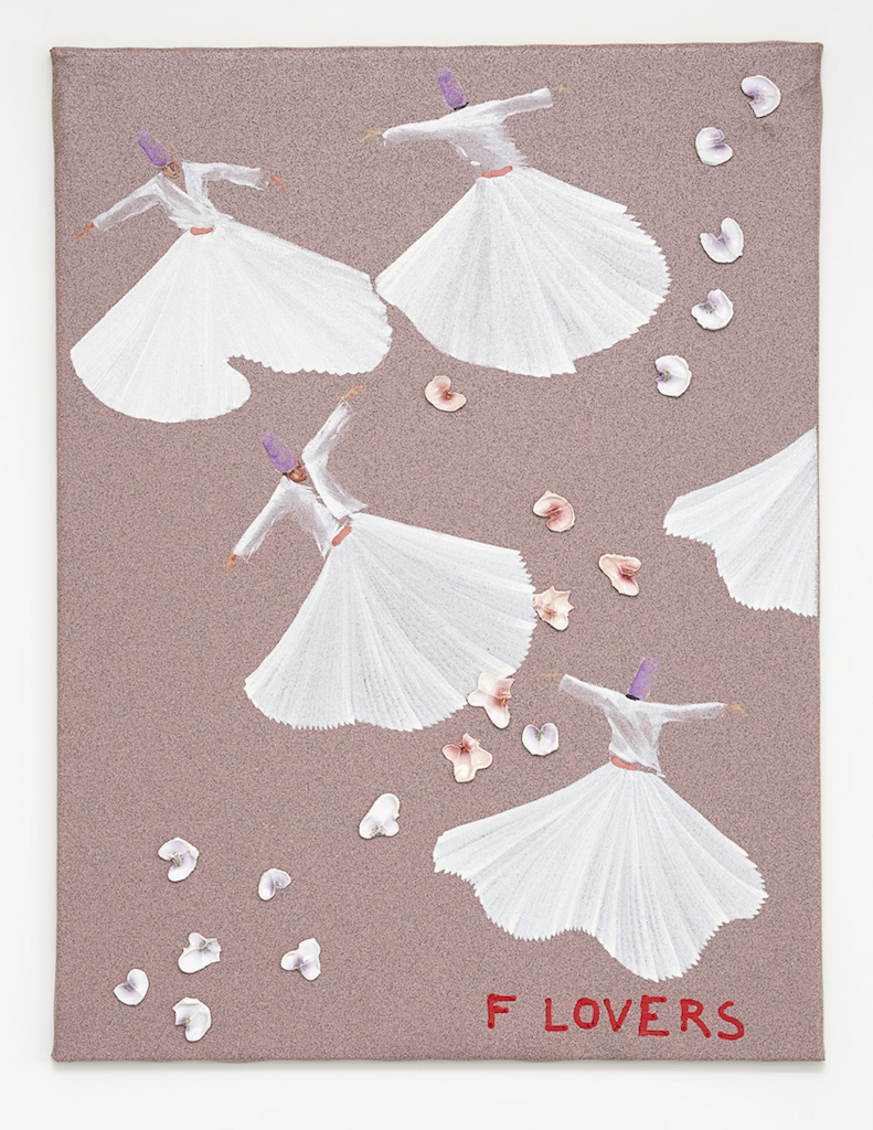 Aldo Mondino, »FLovers«, 2004, oil on linoleum and ceramic, 120 x 90 cm, unique