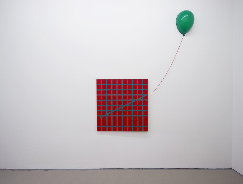 Aldo Mondino, »Haut-OP«, 1965, mixed media, 100 x 100 cm, unique