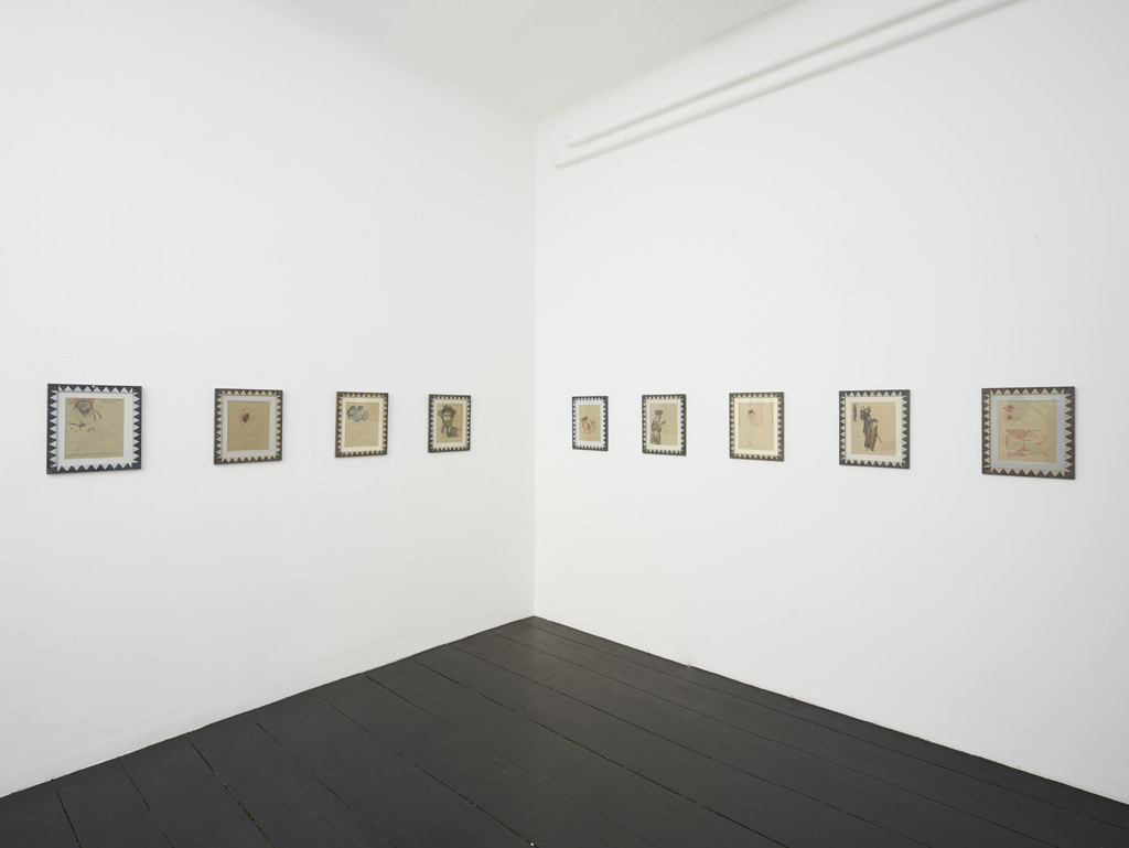 Installation view : Aldo Mondino<br>»Rules for Illusions, Part 2«<br>Galerie Isabella Bortolozzi, Berlin<br>07.07.15 - 01.08.15