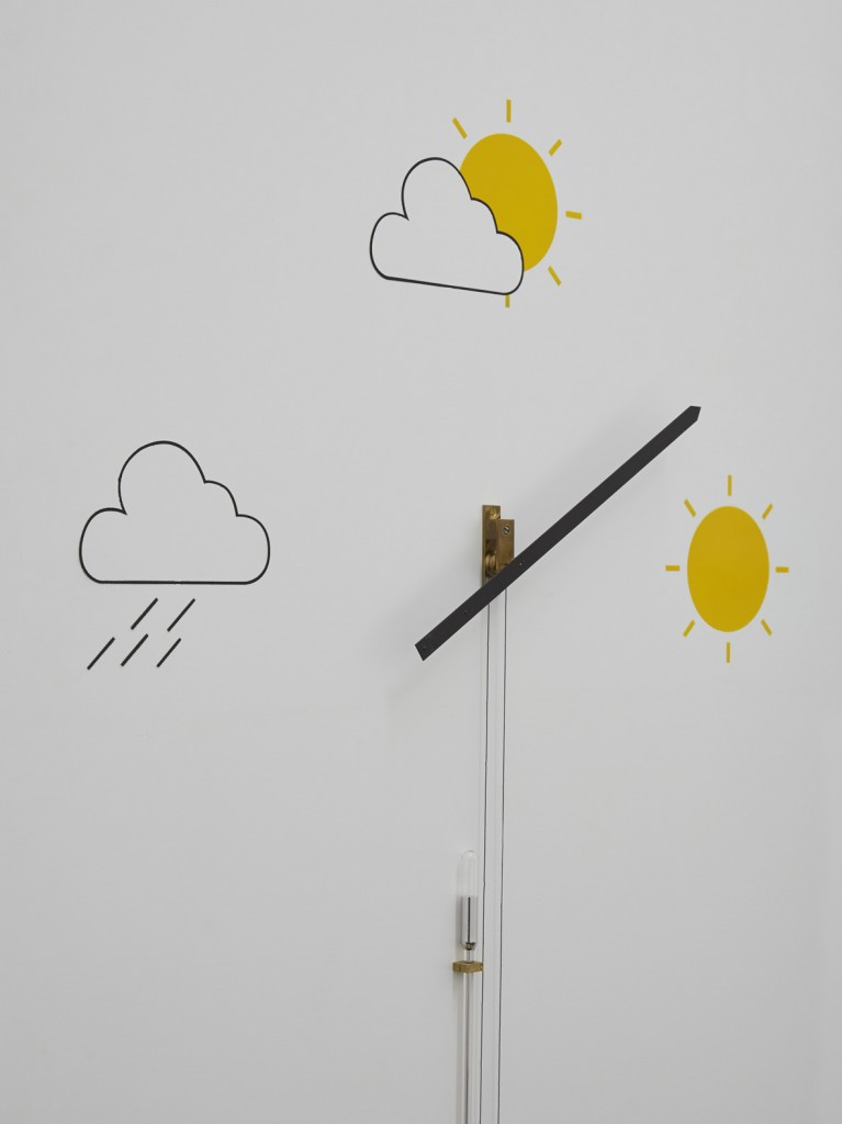 Jos de Gruyter & Harald Thys, »Barometer Altometer White Element« (detail), 2015, hot rolled steel, graphite on paper, aluminium, enamel, hand crafted barometer, 243 x 81.79 x 80.01 cm, unique