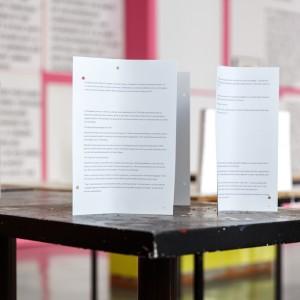 Calla Henkel & Max Pitegoff, 'Foreword', installation view: Witte de With Center for Contemporary Art, Rotterdam,  29.01.16—10.04.16
