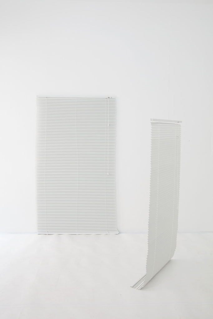 Picture-Blind and Viewer-Blind, window blind in two parts, dimensions variable, 2017