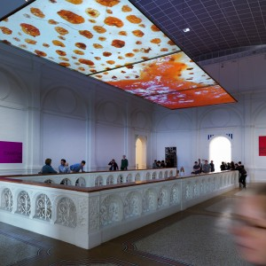 Seth Price, Installation view Social Synthetic, at Stedelijk Museum, Amsterdam