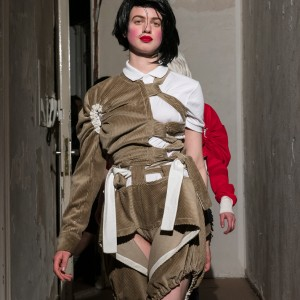 Symonds Pearmain, Haute Militaire, Autumn Winter 2017, Eden Eden, Bülowstr. 74, 1st Floor, right hand door, 10783 Berlin 28.04.17 Photo: Mark Blower