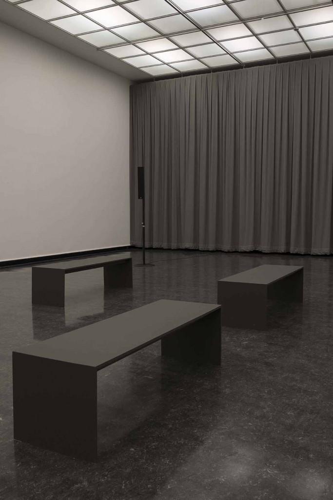 James Richards Crumb Mahogany 1 2016 6-channel digital audio, computer system 15 minute loop Installation view, Crumb Mahogany, Bergen Kunsthall, Norway, February 26 – April 3, 2016