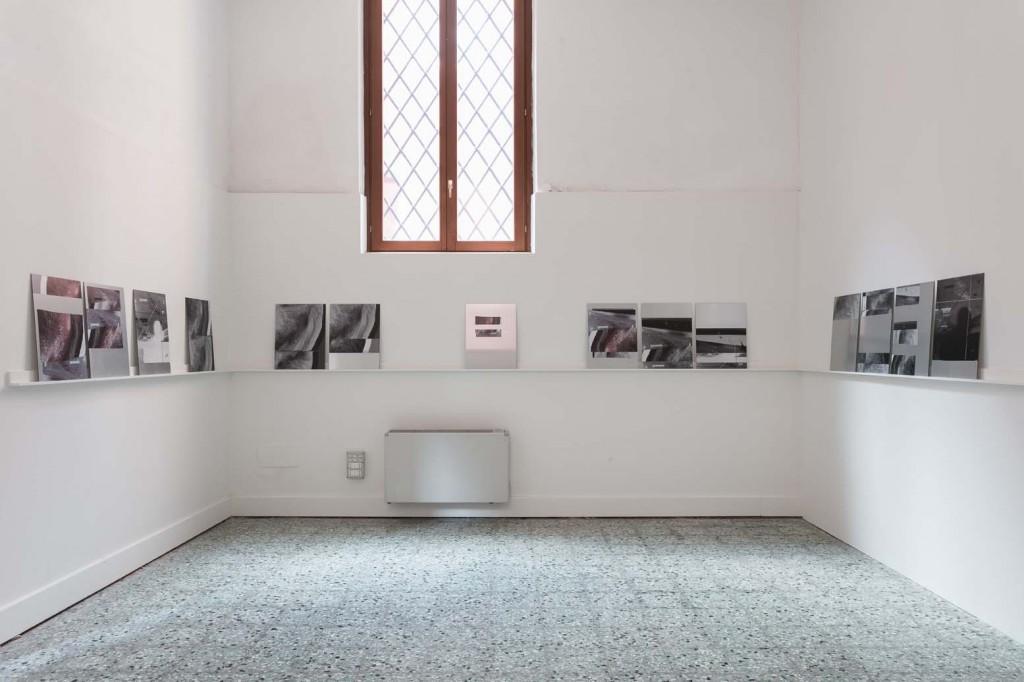 Installation view: James Richards, Rushes Minotaur, inkjet prints on dibond aluminium, 2017, Wales in Venice, 13.05.17 – 26.11.17 Photo Mark Blower