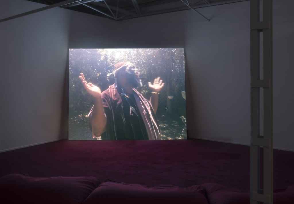 Installation view: Girl Talk, Single Channel Color HD Video, Stereo Sound, 4 Minutes, 2015 at Kunsthalle Münster, Devotional Document (Part 2) 27.05.17 - 01.10.17