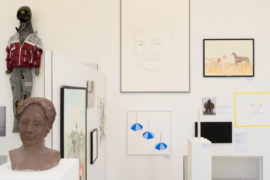 Installation view: Jos de Gruyter & Harald Thys, 30 Jahre Kunst, Kunstverein München, 22.04.17—25.05.17