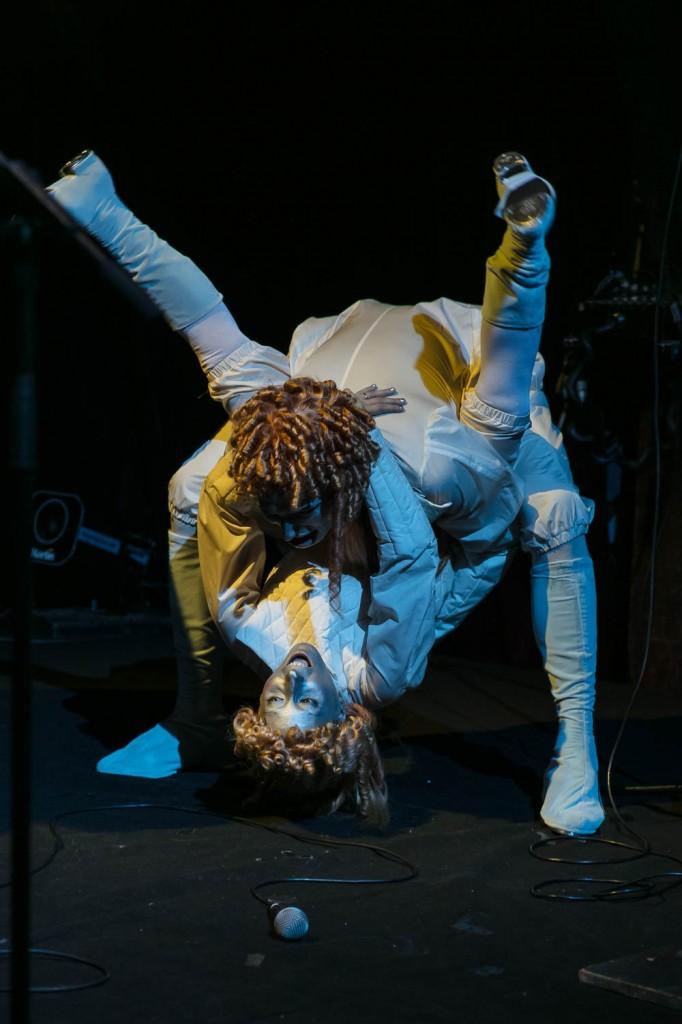 "Performance: Leila Hekmat, Roman Ole, Roman Lemberg ""I was not invited"" Le Zèbre, Paris 19.10.17"