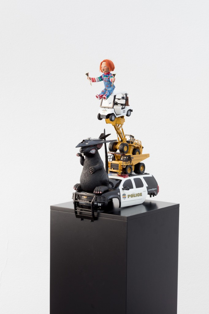 Danny McDonald, Searching For A Reason To Have A Parade, 2018, mixed media, 17.5 x 12 x 31 cm