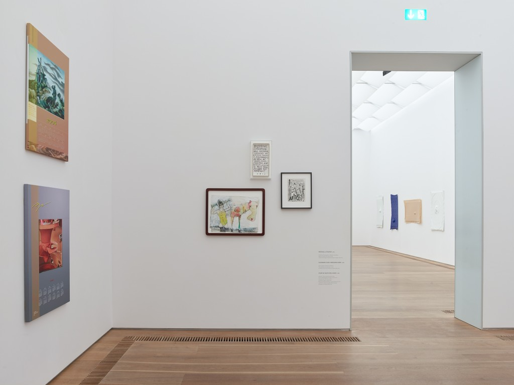 Installation view, Seth Price, Social Synthetic, Museum Brandhorst, Munich, 2017-2018