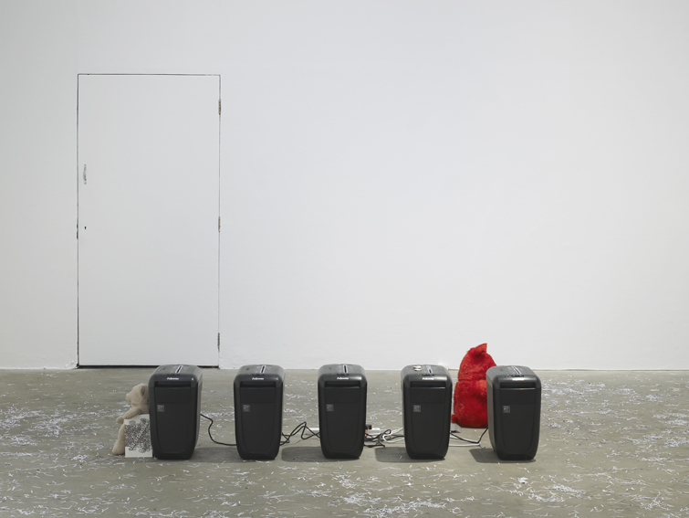 Installation view, Hannah Black, Some Context, Chisenhale Gallery, London, 2017