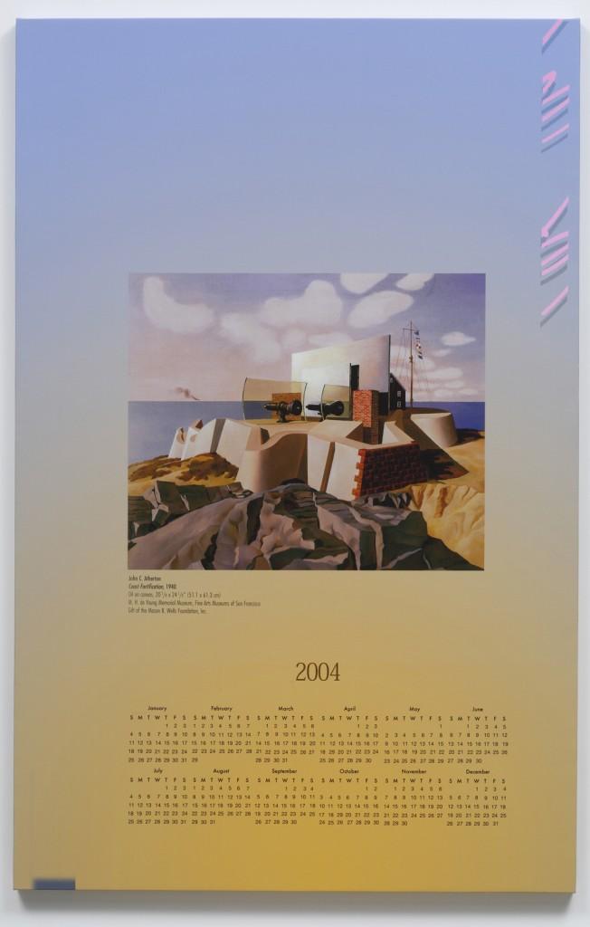 Seth Price. »Coast. Fort.« 2004. Inkjet on canvas. Unique.