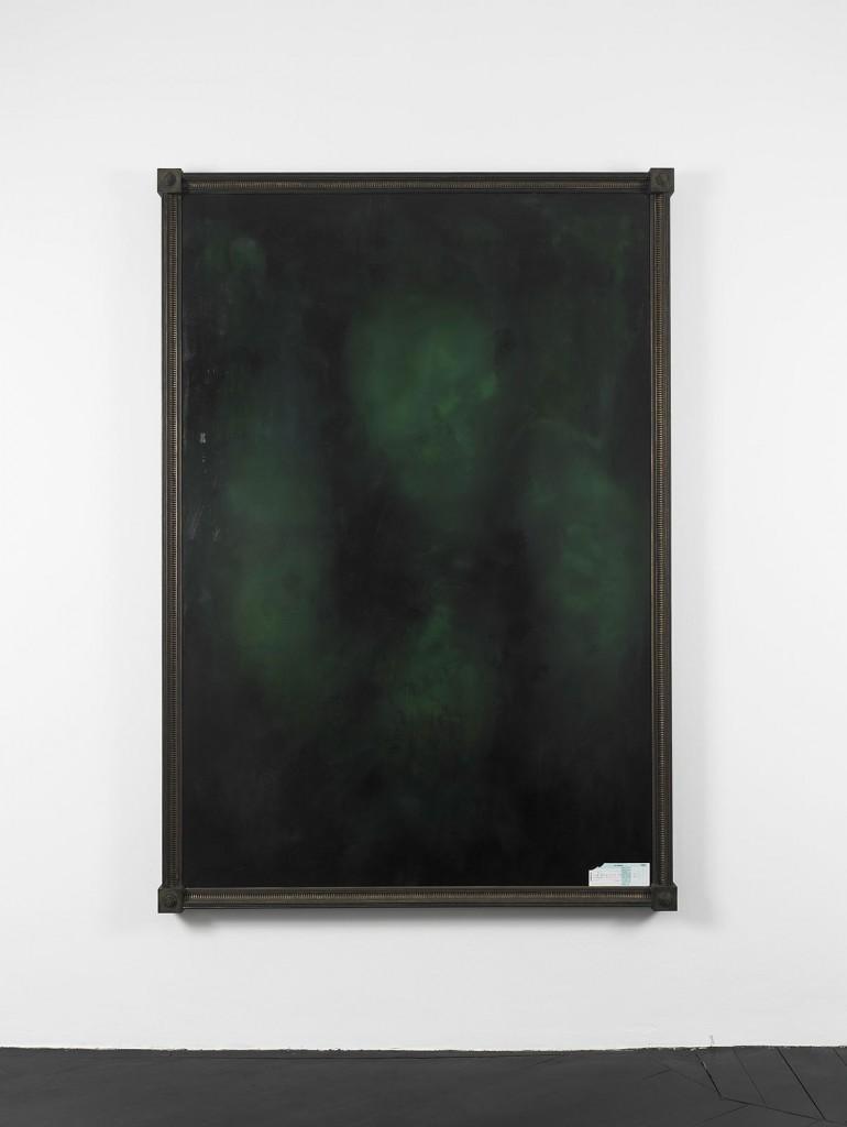 Stephen G. Rhodes, »Vacant Portrait - GALILAHI Group«, 2011. Oil on canvas, paper. 220 x 150 x 5 cm. Unique.
