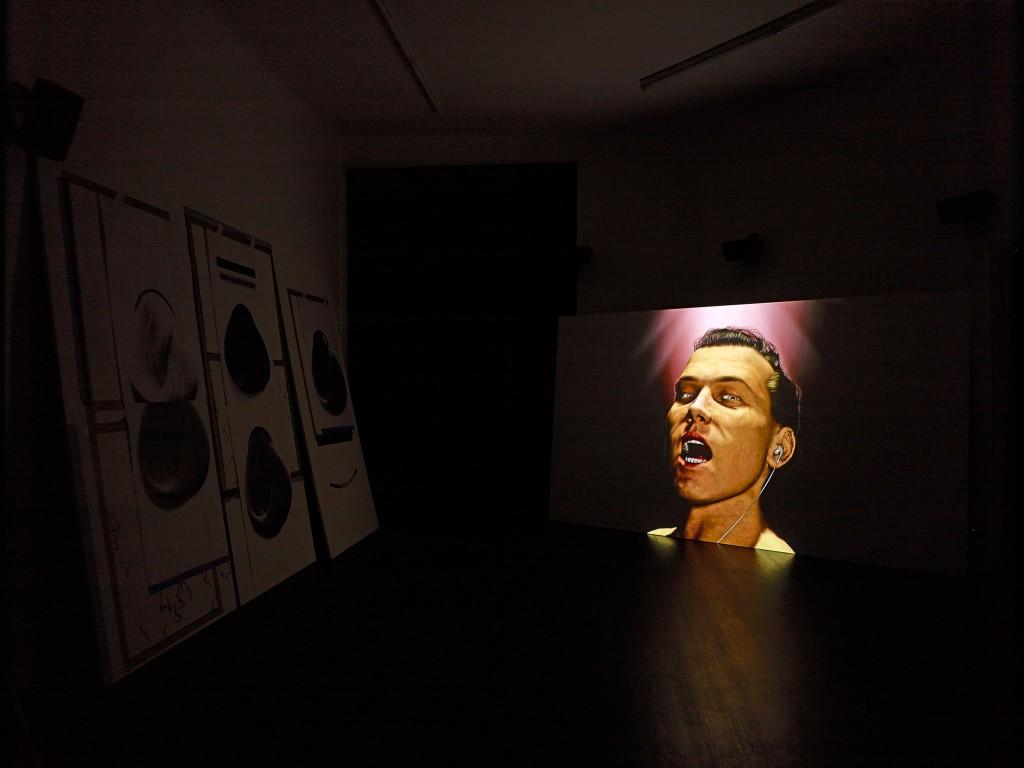 Installation view: Ed Atkins, »Warm, Warm, Warm Spring Mouths«, Isabella Bortolozzi Galerie, Berlin. 02.03.13—06.04.13.