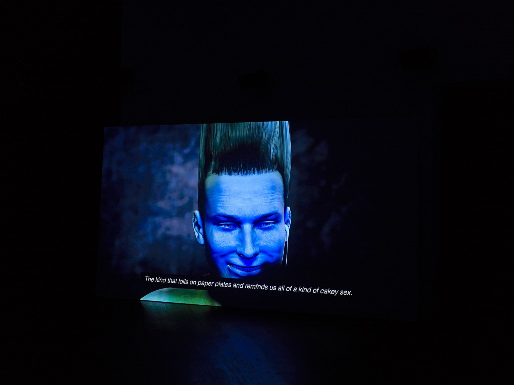 Ed Atkins, »Warm, Warm, Warm Spring Mouths (Still)«, 2013. HD video with 5.1 surround sound. Duration 12:50 minutes.