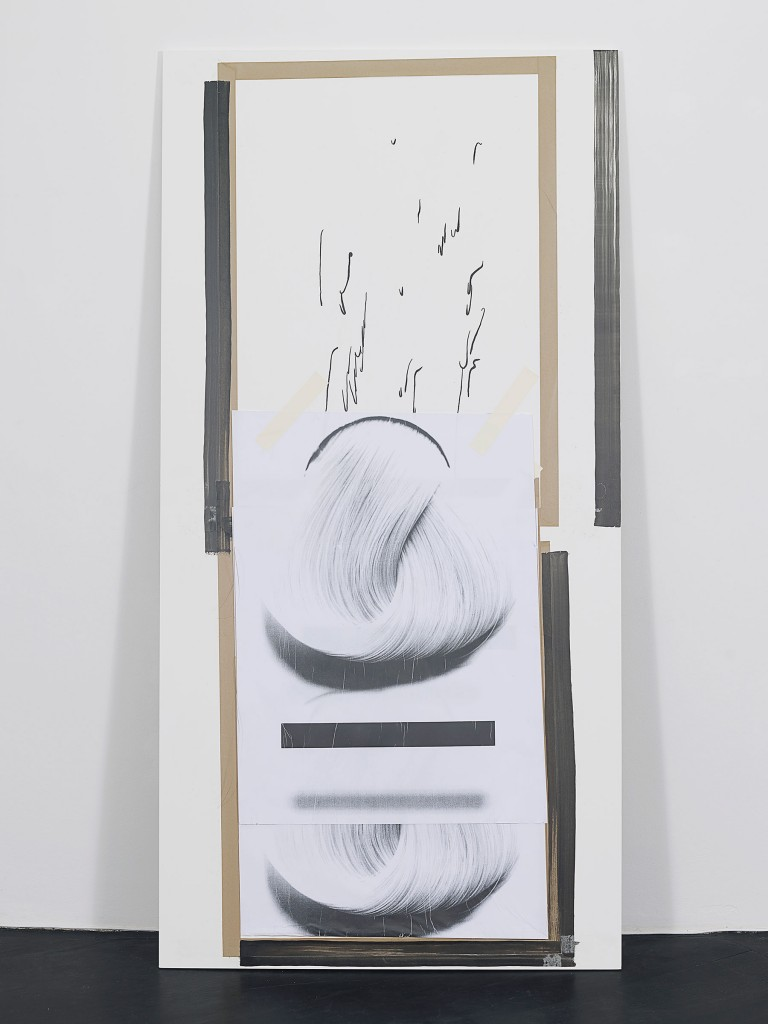 »Untitled (3)«, 2013. Collage on wood and steel. Each 243.8 x 121,4 x 1,9 cm. Unique.