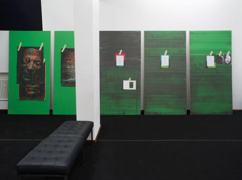Installation View: Ed Atkins, »Death Mask«, Cabinet, London. 01.14.11—02.26.11.