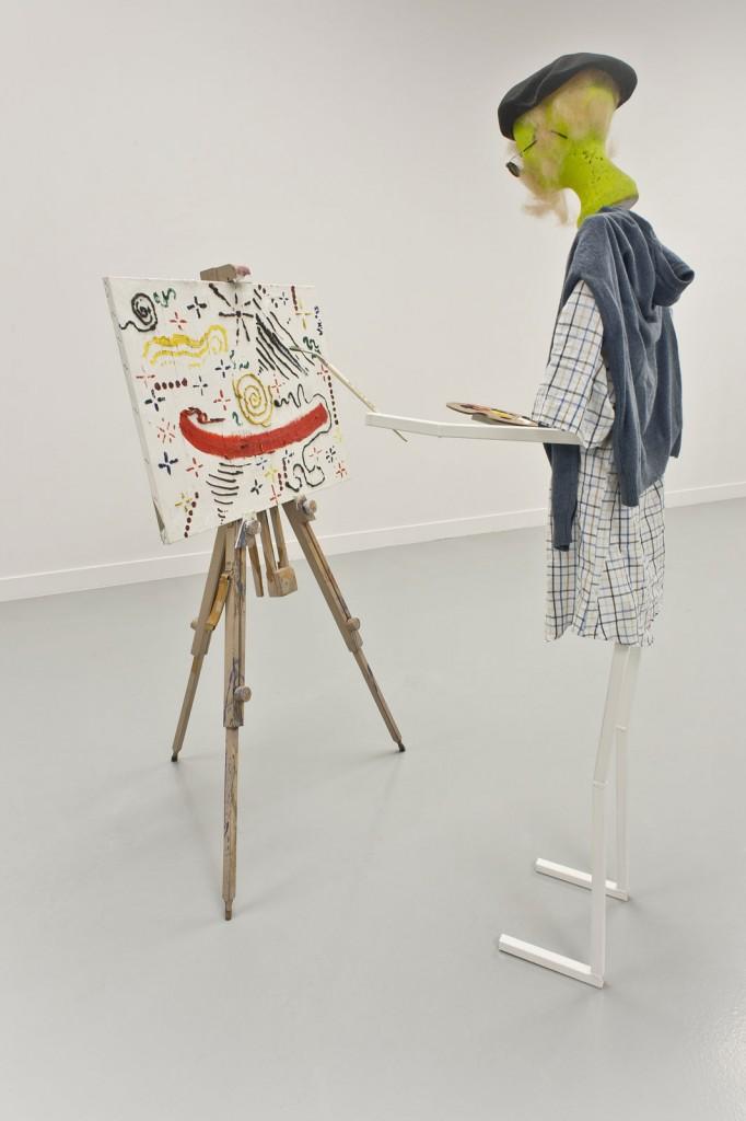 Jos de Gruyter & Harald Thys. »Johannes, painter« *1947 † 2010, 2011. mixed media.  dimensions variable. Unique