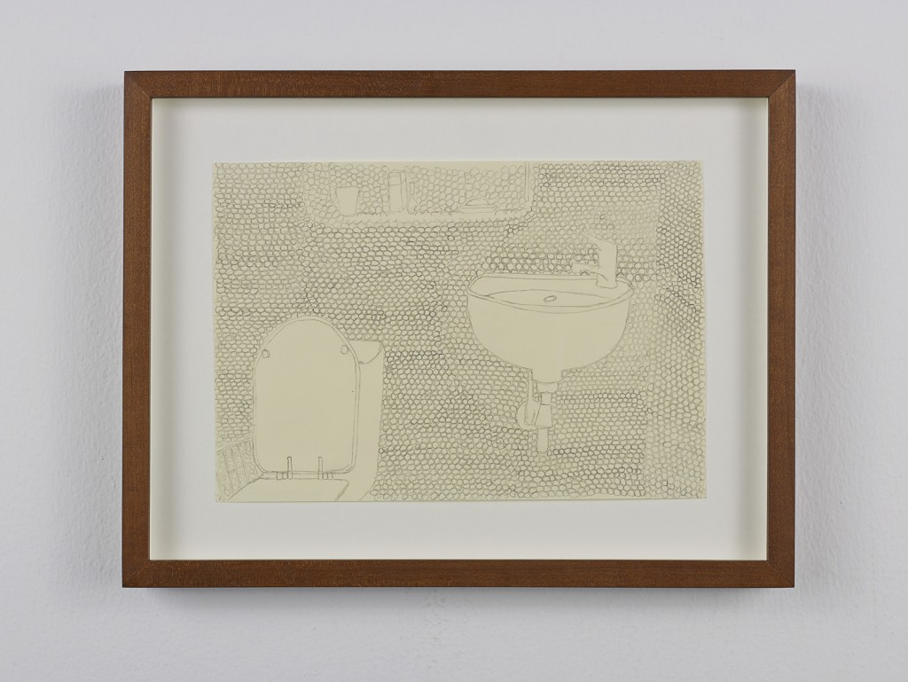 Juliette Blightman. »Gregorio Magnani, London«. 2013. Graphite on paper, framed. Unique.