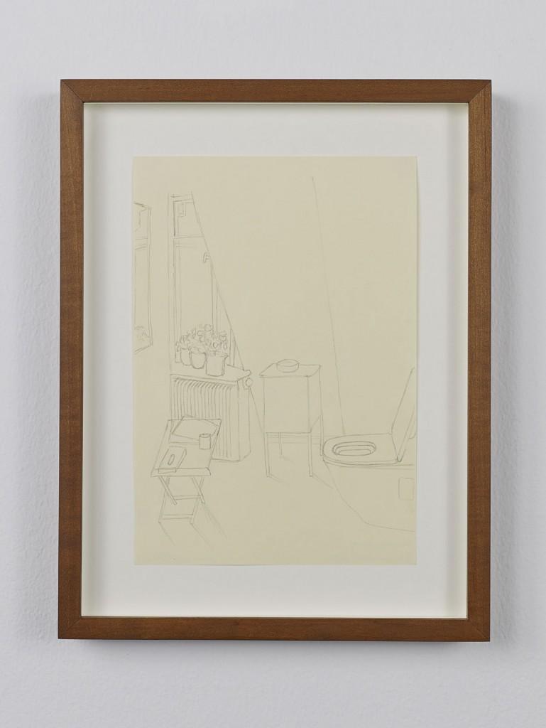 Juliette Blightman. »Fürstenberg, Donaueschingen«. 2013. Graphite on paper, framed. Unique.
