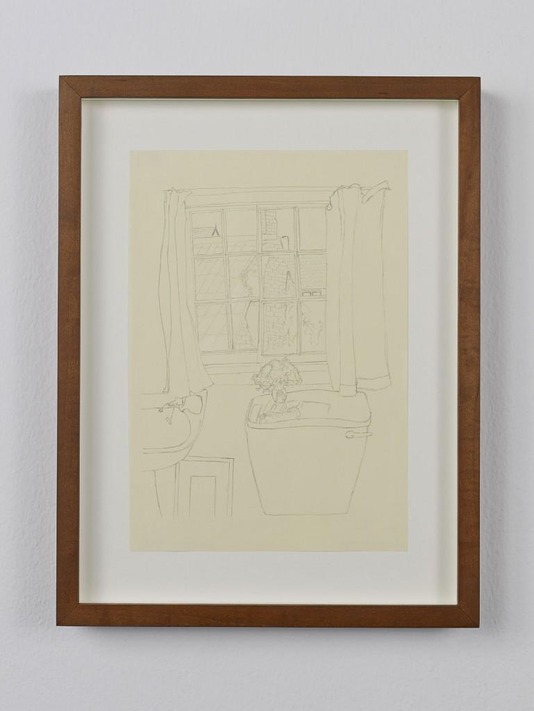 Juliette Blightman. »Jim Ede, Cambridge«. 2013. Graphite on paper, framed. Unique.