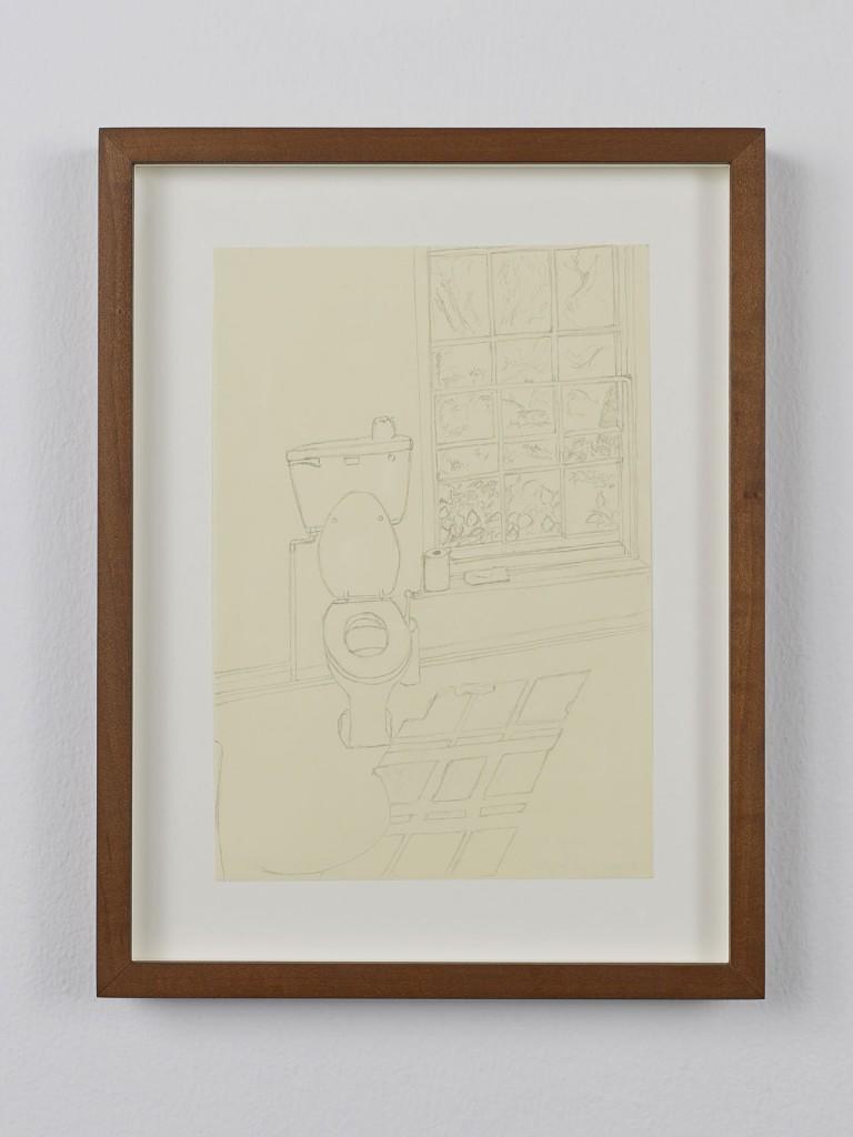 Juliette Blightman. »Cerith Wyn Evans, Norfolk«. 2013. Graphite on paper, framed. Unique.